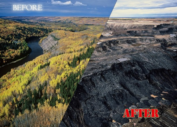 the tar sands - before and after