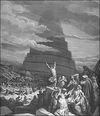 destruction of tower of Babel