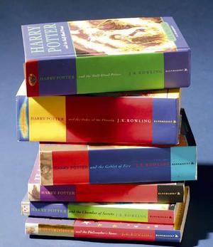 thick stack of Harry Potter novels