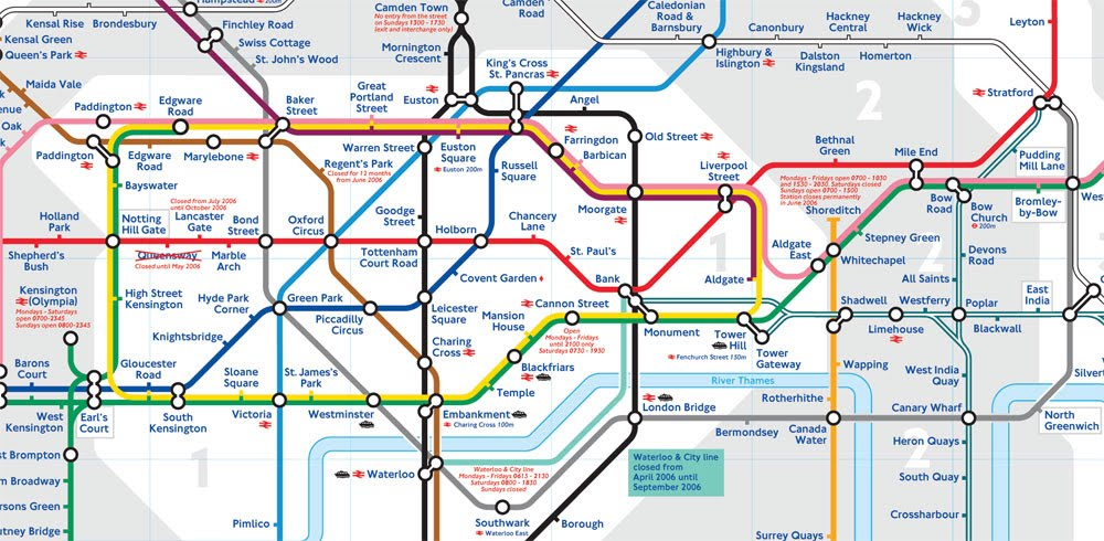 map of the London Underground lines