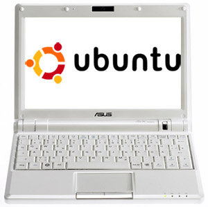 ubuntu on a laptop screen