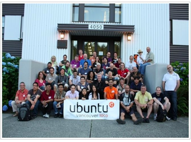 vancouver loco of Ubuntu, group shot