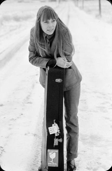 Joni Mitchell in the snow