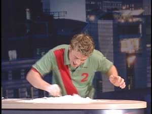 Jamie Oliver making pizza dough