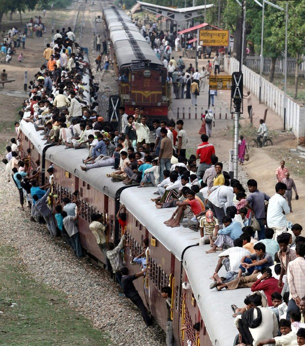 Traveling by train in India