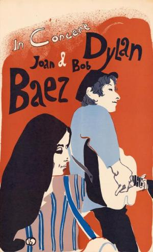 dylan and baez tour poster