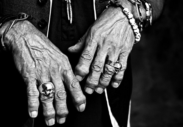 keith richards' hands