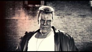 Mickey Rourke as the unrealistic (but exciting) Marv in Sin City