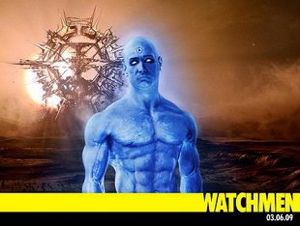Dr Manhattan in Watchmen