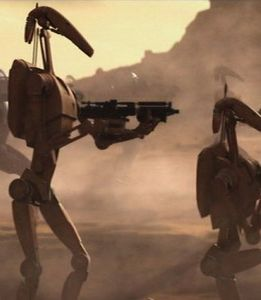 battle droids from the Star Wars prequels