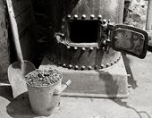an old time coal furnace